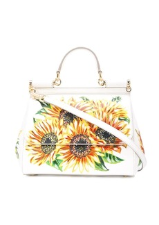 Dolce & Gabbana sunflower print Sicily bag