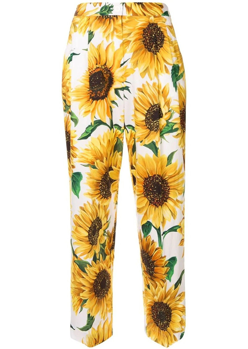 Dolce & Gabbana sunflower print trousers