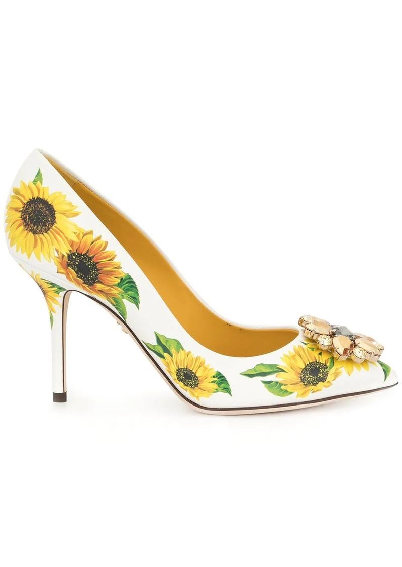 Dolce & Gabbana sunflower pumps