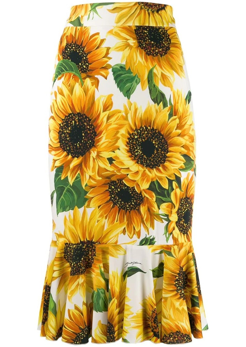 Dolce & Gabbana sunflower skirt