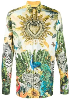 Dolce & Gabbana Superhero King print shirt