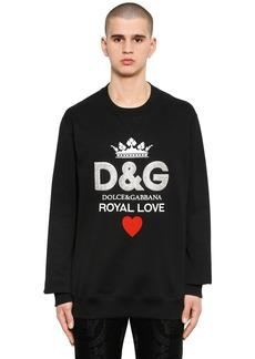 Dolce & Gabbana Swarovski Logo Cotton Sweatshirt