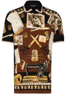 Dolce & Gabbana tailor-print polo shirt