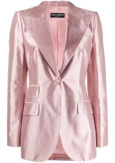 Dolce & Gabbana tailored satin blazer