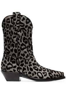 Dolce & Gabbana Texan 40 leopard cowboy boots