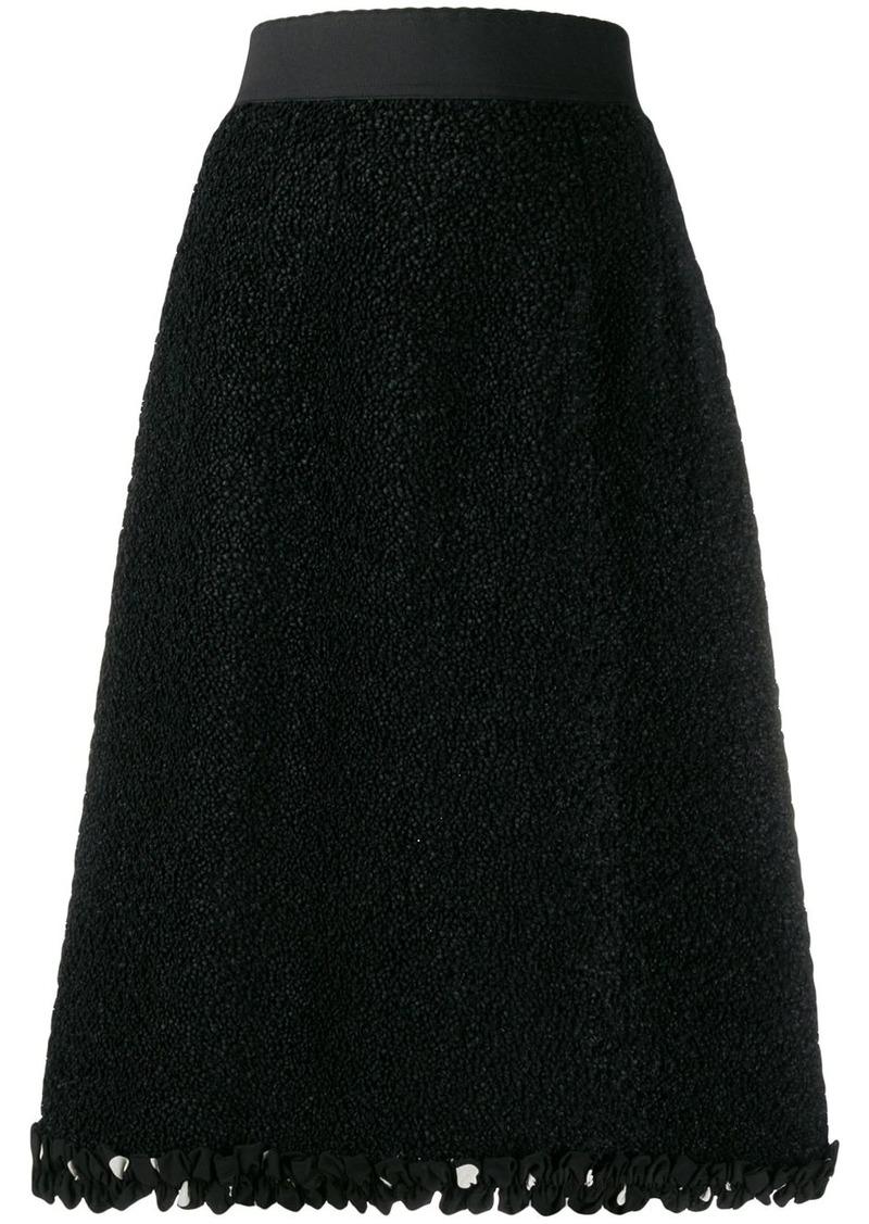 Dolce & Gabbana textured A-line skirt