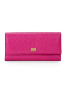 Dolce & Gabbana Textured Leather Continental Wallet