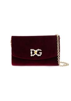Dolce & Gabbana textured logo embellished bag