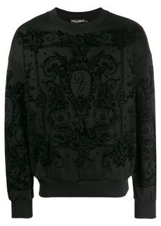 Dolce & Gabbana textured velvet sweatshirt