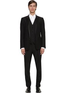 Dolce & Gabbana Three- Piece Virgin Wool Blend Suit