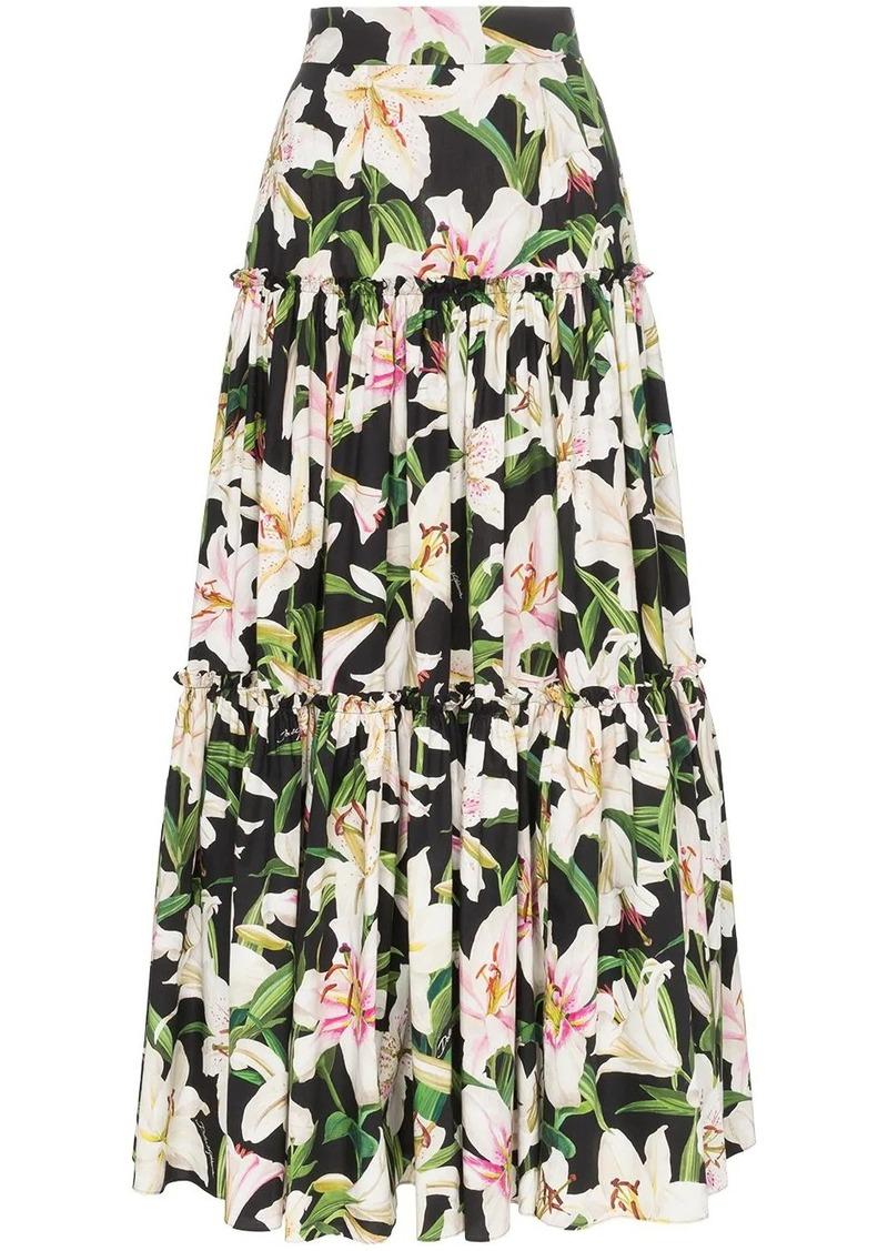 Dolce & Gabbana tiered floral print skirt