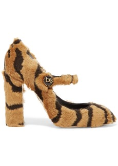 Dolce & Gabbana Tiger-print Faux Fur Mary Jane Pumps