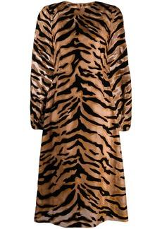 Dolce & Gabbana tiger print sheer dress