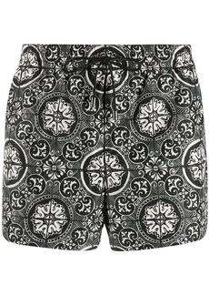 Dolce & Gabbana tile print swim shorts
