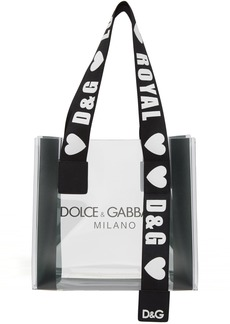 Dolce & Gabbana Transparent PVC Street Shopping Tote