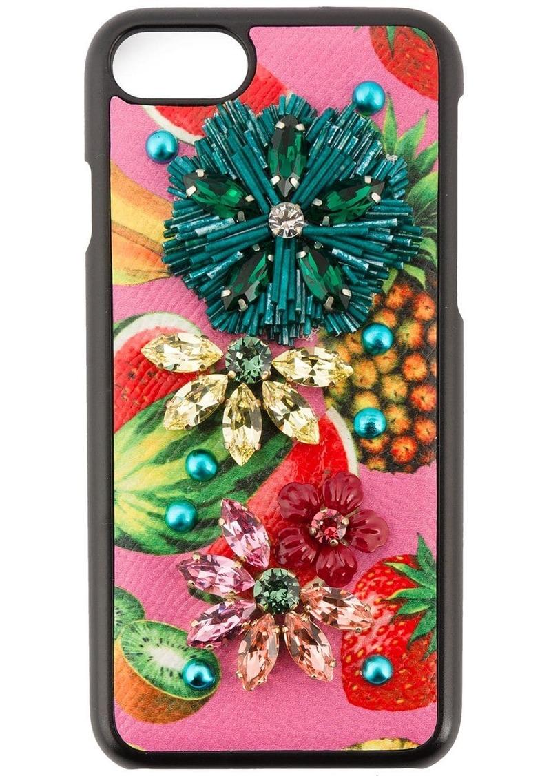 tropical fruit embellished iPhone 6 case