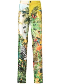Dolce & Gabbana tropical print trousers