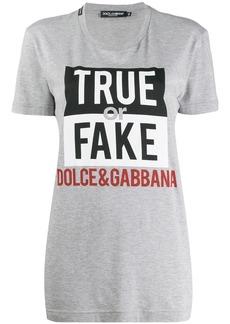 Dolce & Gabbana True or Fake T-shirt