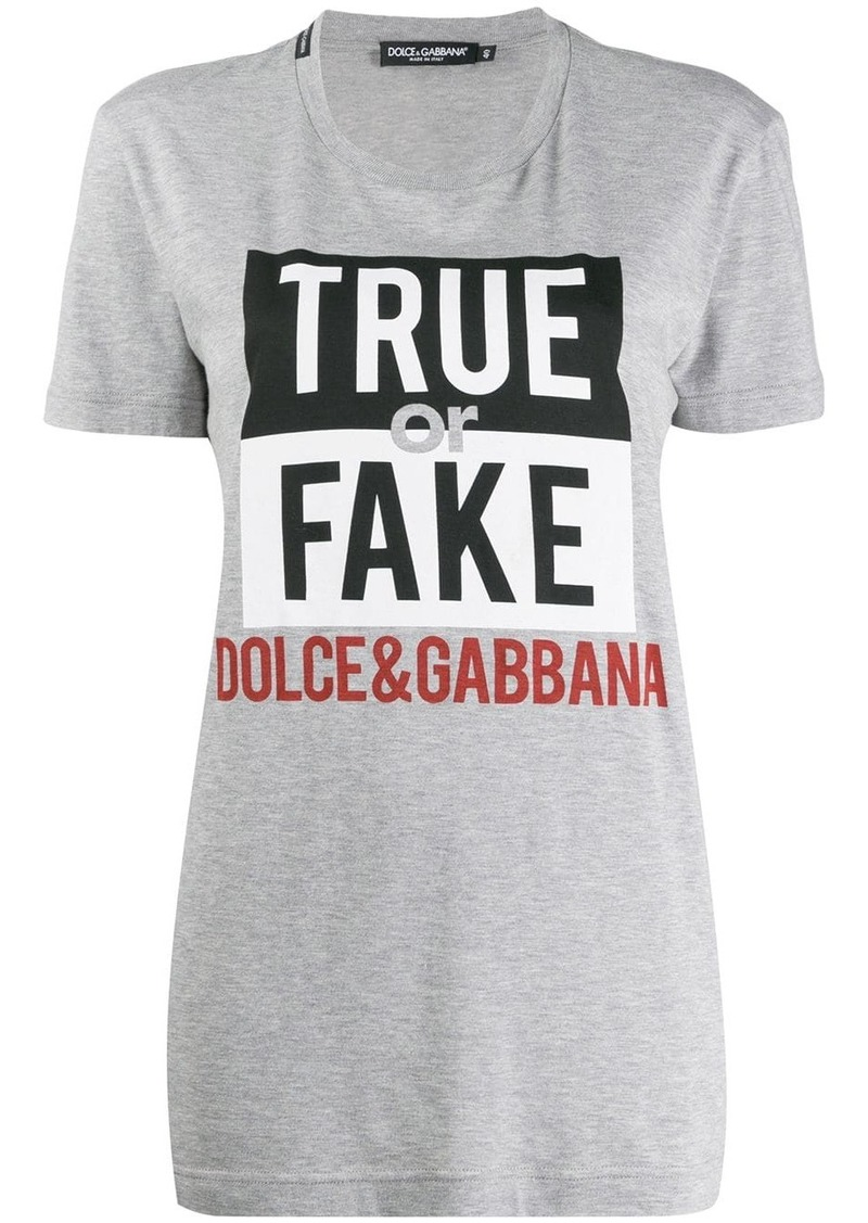 Dolce & Gabbana True or Fake T-shirt