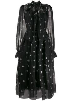 Dolce & Gabbana tulle polka dot print dress