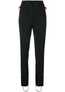 Dolce & Gabbana tuxedo stripe fox trim trousers