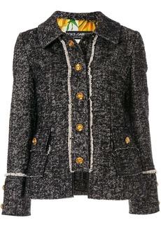 Dolce & Gabbana tweed logo button jacket