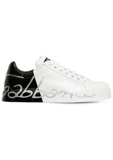 Dolce & Gabbana Two Tone Leather Sneakers
