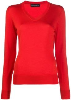 Dolce & Gabbana v-neck knitted jumper