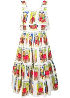 Dolce & Gabbana vegetable tin print dress