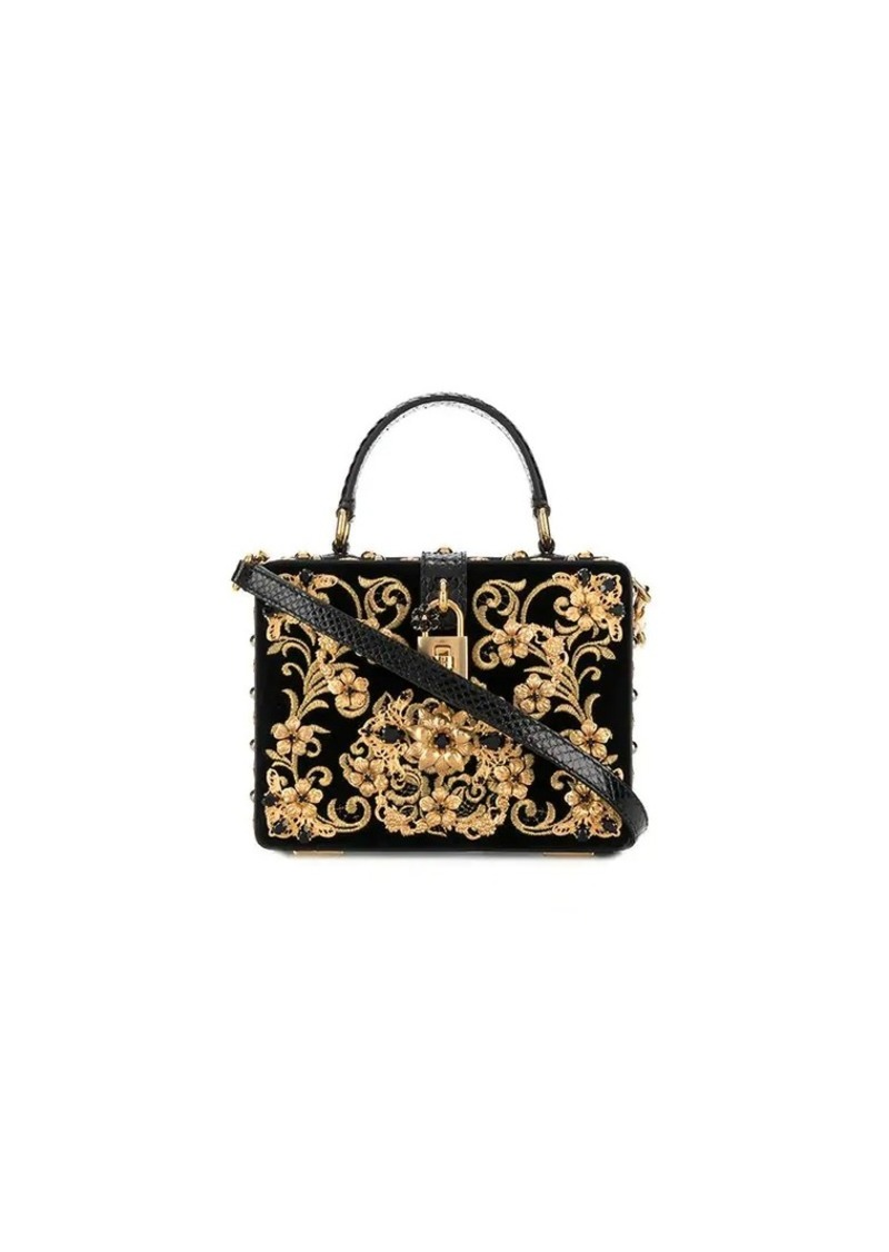 Dolce & Gabbana Velvet Dolce box bag