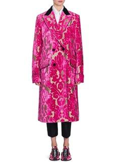 Dolce & Gabbana Velvet Fil Coupe Jacket