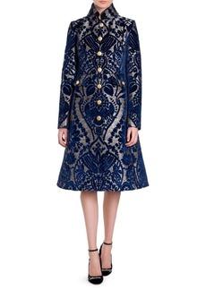 Dolce & Gabbana Velvet Jacquard Coat