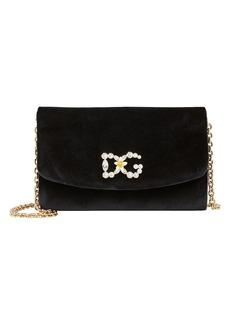 Dolce & Gabbana Velvet Logo Clutch