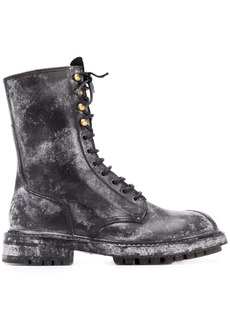 Dolce & Gabbana Vintage-look calf leather boots