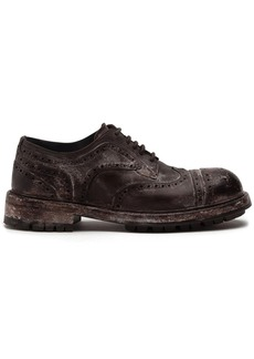 Dolce & Gabbana vintage-look leather brogues