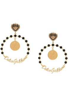 Dolce & Gabbana votive motif clip-on hoop earrings