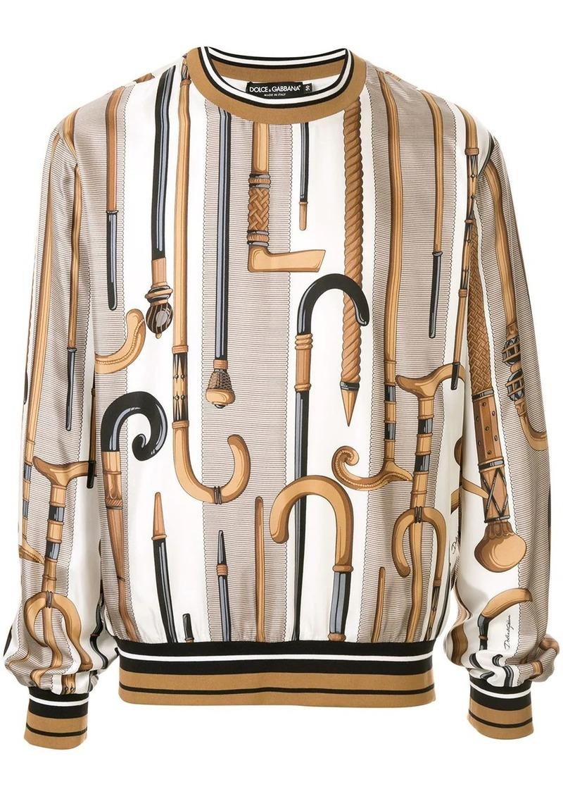 Dolce & Gabbana walking stick sweatshirt