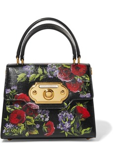 Dolce & Gabbana Welcome Small Floral-print Lizard-effect Leather Tote