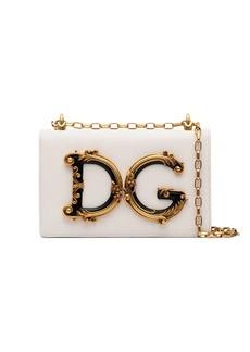 Dolce & Gabbana Baroque DG logo shoulder bag