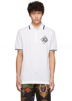 Dolce & Gabbana White 'DG' Logo Polo