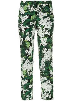 Dolce & Gabbana white geranium printed trousers