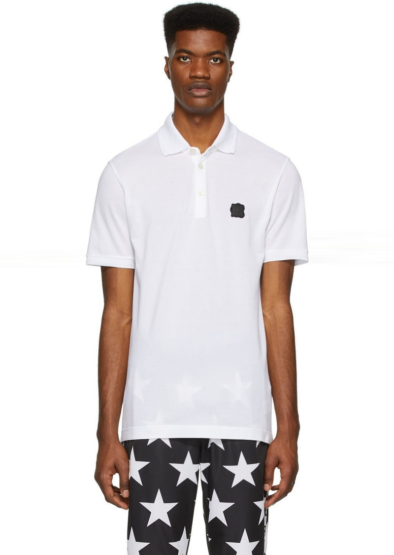 Dolce & Gabbana White Logo Patch Polo