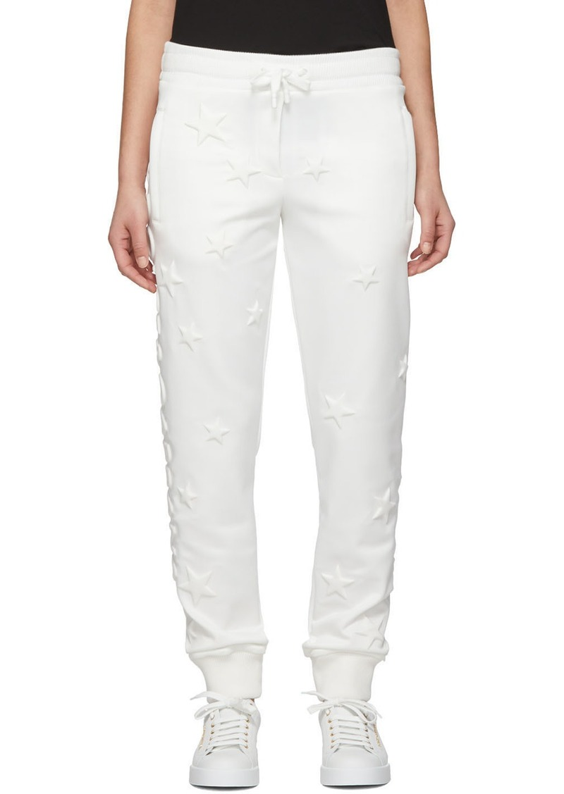 Dolce & Gabbana White Millennials Star Scuba Lounge Pants