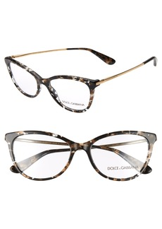 Women's Dolce & gabbana 54mm Optical Glasses - Black Spotted/ Gold