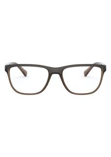 Women's Dolce & gabbana 54mm Rectangle Optical Glasses - Transparent Brown