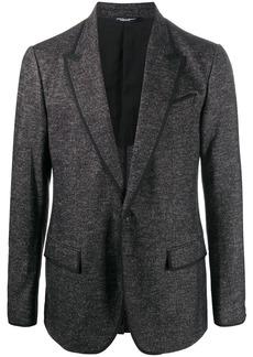 Dolce & Gabbana woven single-breasted blazer