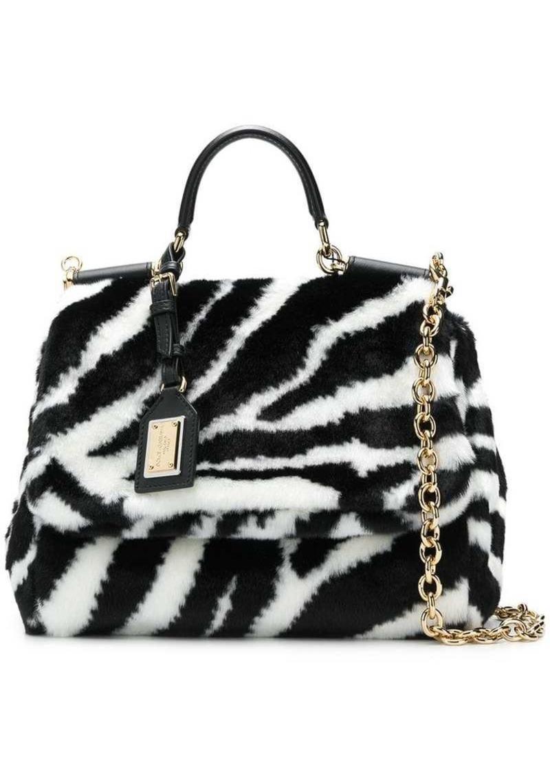 Dolce & Gabbana zebra print Sicily bag