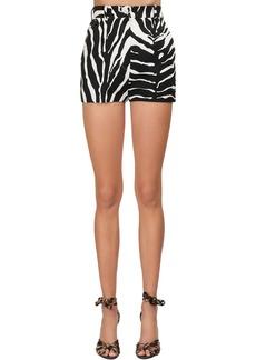 Dolce & Gabbana Zebra Printed Stretch Drill Shorts