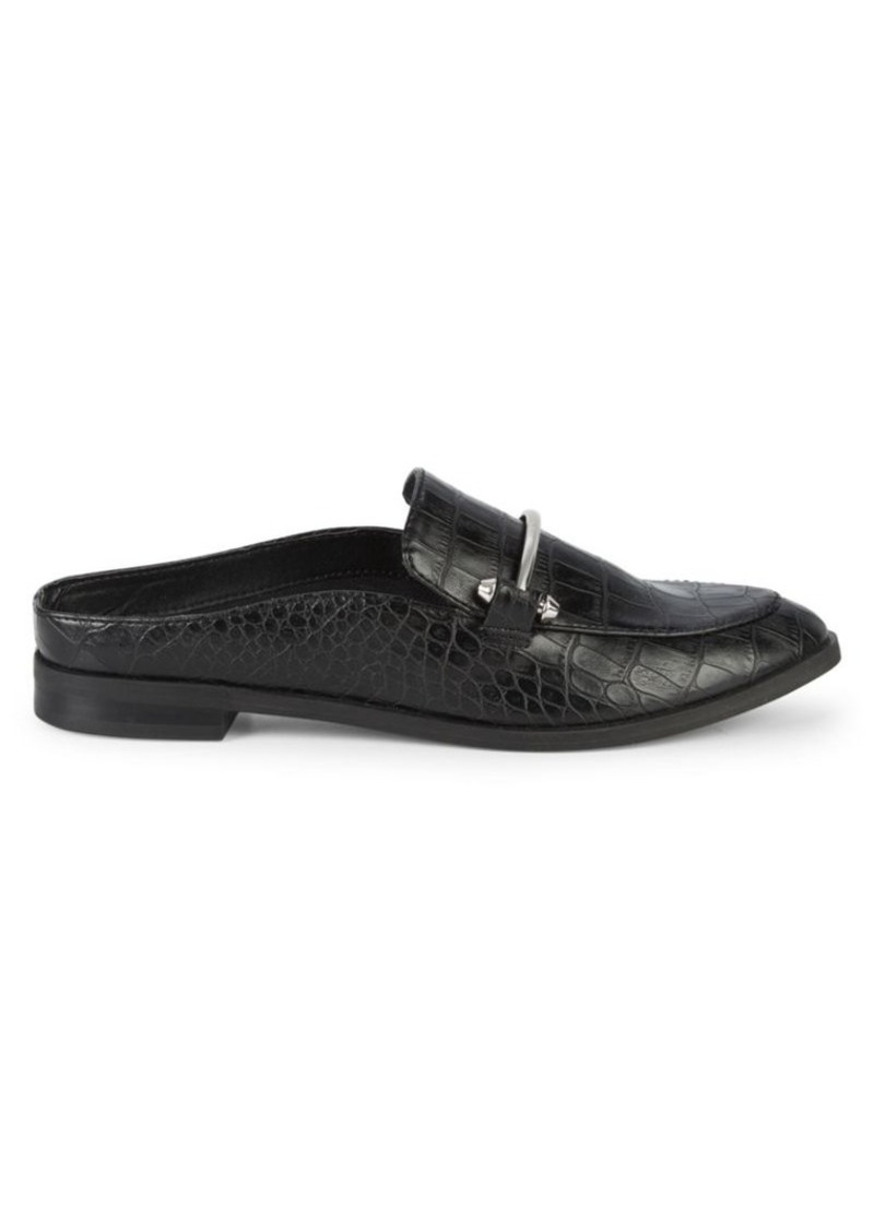 Dolce Vita Camrin Croc-Embossed Low-Back Loafers