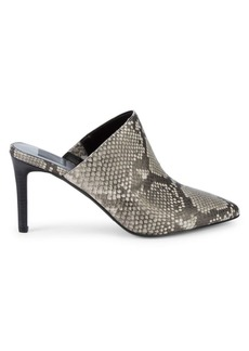 Dolce Vita Cinthia Snakeskin-Embossed Leather Mules